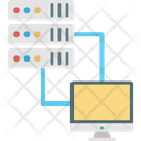 Client Server Internet Sharing Monitor Icon