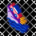 Cliff Flying Car Icon