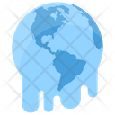 Melting Earth Climate Change Global Warming Icon