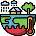 Climate Change Disaster Extreme Weather Icon
