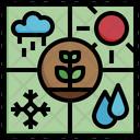 Climate Monitoring Rain Sensor Icon