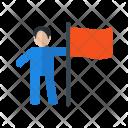 Man Flag Climb Icon