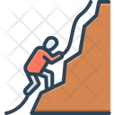 Climb Rappelling Abseiling Icon