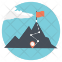 Adventures Hiking Mountain Icon