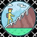 Hitchhiking Exploring Adventure Icon