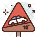 Climbing Ahed Elevation Vehicle Climbing Icon