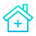Hospital Doctor House Constuction Icon