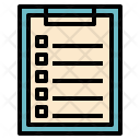 Clipboard Stationery Report Icon
