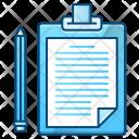 Clipboard Paper File Icon