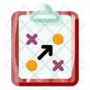 Clipboard And Tactic Icon