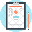 Clipboard Diagram Flowchart Icon