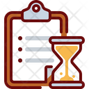 Clipboard Hourglass Timer Icon