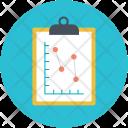 Clipboard Graph Report Icon