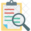 Clipboard Magnifying Search Article Icon