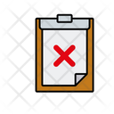 Clipboard Cancle Clipboard Rejected Report Icon