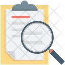 Clipboard Magnifying Search Icon