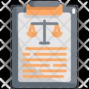 Clipboard Law Justice Icon