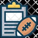 American Football Clipboard Sports Icon