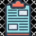 Clipboard Editor Checklist Icon