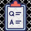Clipboard Clip Chart Faq Icon