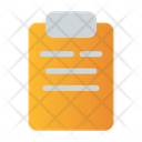 Clipboard Document List Icon