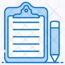 Clipboard Padfolio Writing Board Icon