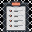 Clipboard Work List Checklist Icon