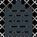 Clipboard Memo Agenda Icon
