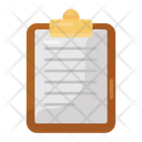Clipboard Drafting Pad Jotter Icon