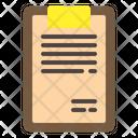 Clipboard Document List Icon