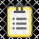 Clipboard Notice Report Icon