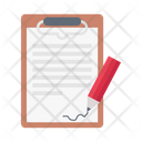 Clipboard Signature Document Icon