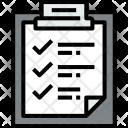 Clipboard Checklist File Icon