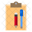 Clipboard School Study Icon