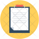 Clipboard Sheet Document Icon