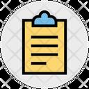 Clipboard Tasks List Icon