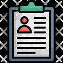Clipboard Curriculum Vitae Cv Icon