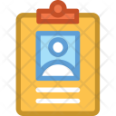 Clipboard Detail Emplyee Icon