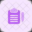 Clipboard Edit Document Icon