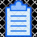 Clipboard List Document Icon