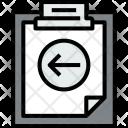 Clipboard Left File Icon