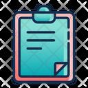 Clip Board Document Report Icon