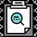 Clipboard Search File Icon