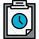Clipboard Time File Icon