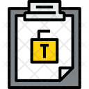 Clipboard Unlock File Icon