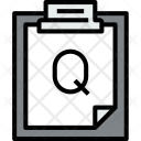 Clipboard Question File Icon