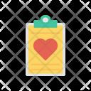 Clipboard Love Letter Icon
