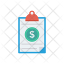 Clipboard Invoice Document Icon