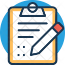 Clipboard Checklist Pen Icon
