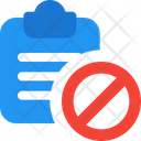 Clipboard Banned Clipboard Edit Icon